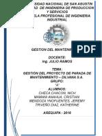 Gestión de Mantenimiento Dilvana s.a.