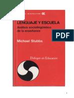 Lenguaje y Escuela - Michael Stubbs