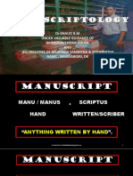 Manuscriptology