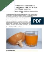 Adióscolesterol y Azúcar en Sangre