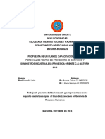 Propuesta de un plan de capacitación dirigido al personal de ventas de proveduria de servicios y suministros industriales