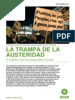 La trampa de la austeridad. Análisis europeo