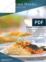 Restaurant Weeks Brochure 2017