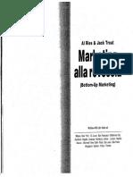 Marketing Alla Rovescia (Bottom-Up Marketing) - Al Ries and Jack Trout(Stessi Autori 22 Leggi Del Marketing)