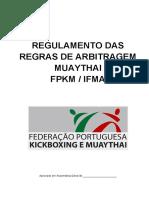 Regulamento Regras Arbitragem Muaythai Fpkm Ifma - Set2016