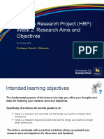 Aims and Objectives - DJE 21st October 2014 (Final)
