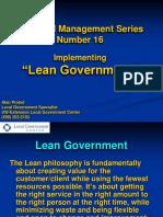 FM16 - Lean Government