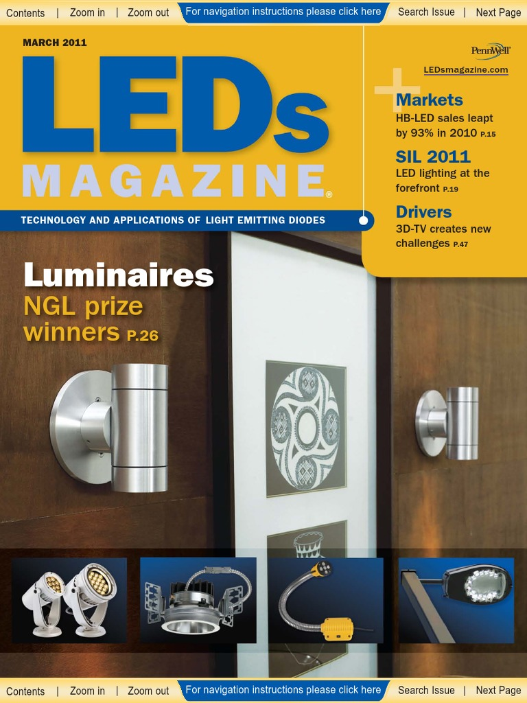LEDSMAGAZINE-MAR2011 | Light Emitting Diode | Backlight