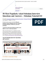 50 Most Popularly Asked Selenium Interview Questions and Answers - Selenium Tutorial #33
