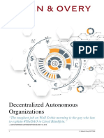 Article Decentralized Autonomous Organizations