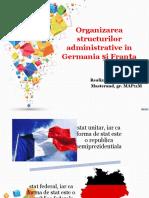 Franta Germania Structurile Administrativ Teritoriale
