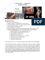 Virtues of War Reading Schedule