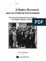 The Civil Rights Movement and the Federal Government 1958-1973