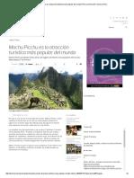 Machu Picchu Es La Atracción Turística Más Popular Del Mundo _ Peru _ Vamos _ El Comercio Peru