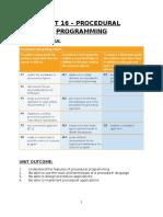 Unit 16 - Procedural Programming Assignment