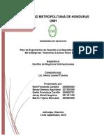 Plan de Exportacion Empresa Palos Blancos