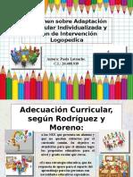 Resumen de adaptaciones curriculares. Paola Latouche