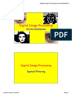 Digital Image Processing - Lecture Weeks 13 and 14