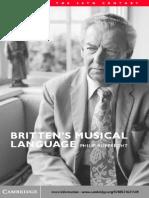Britten's Musical Language, By Philip Rupprecht