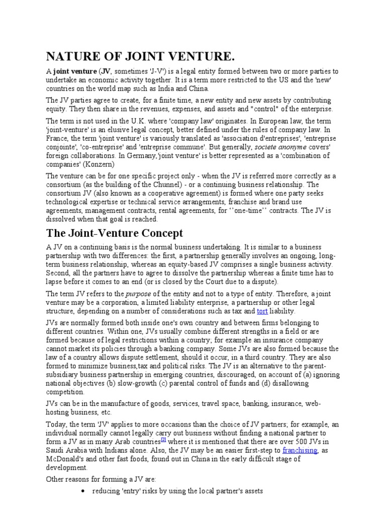 Assignment accoutjoint venture joint venture companies platinumwayz