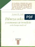Little, Lester - Pobreza Voluntaria y Economía de Beneficio Medieval