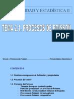 2.1 Procesos de Poisson