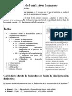 Implantación Del Embrión Humano - Wikipedia, La Enciclopedia Libre