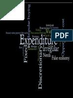 expenditure wordle