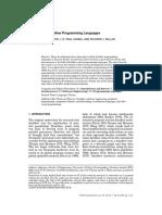 Advances in Dataflow Programming Languages