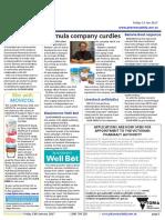 Pharmacy Daily for Fri 13 Jan 2017 - Formula company curdles, J
