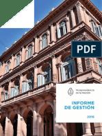Informe Anual de Vicepresidencia - 2016
