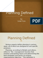 Planning Defined