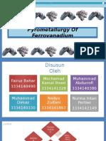 Pyrometallurgy of Ferro Vanadium (1)