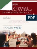 PDF Programa Curso Curso Gestion Deportiva Marketing Deportivo