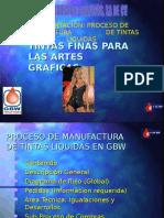 PROCESO de Manufactura de Tintas Liquidas GBW