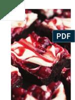 Avacodo Brownie Cherry  Cream Cheese Cake