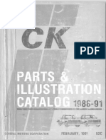 52C Part 1 1988-1991 GM Light Trucks Parts Catalog 1991 Printing