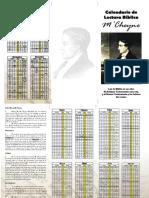 Calendario de Lectura Bíblica M'Cheyne (tamaño A4)