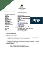 Progr. Fon115 Fundam de Fonoaudiología II, 2º Sem.2009