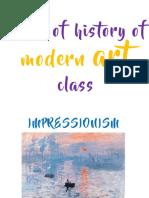Slides of History of Modern Art Class