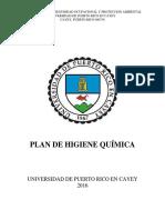 Plan de Higiene Quimica Con Apendices Revisión 2016 Arreglada X MARITZA Abril 2016