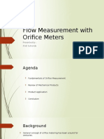 Flow Measurement With Orifice Meter 1
