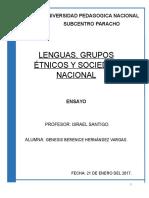 Lenguas Ensayo