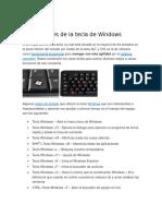 ~~Las funciones de la tecla de Windows