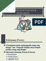 SUMBER KEKUASAAN & PENGARUH