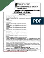 210 KVPY Stage 1 Exam 2016 17 Paper Solution