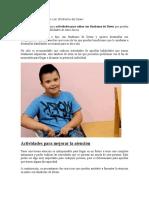 Actividades Para Niños Con Síndrome de Down