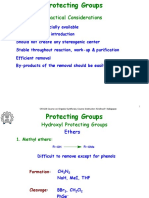 Protecting Groups - Tactical Considerations
