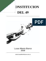 Lucas Alberto Bianco La Constitucion Del 49
