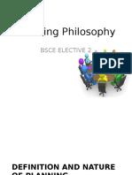 Planning Philosophy